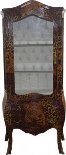 Casa Padrino Barock Vitrine Leopard - Vitrinenschrank - Wohnzimmerschrank