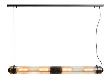 Casa Padrino Luxus Hängeleuchte Schwarz / Messing - Luxus Qualität