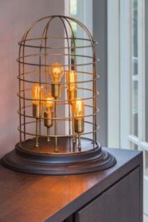 Casa Padrino Tischleuchte Schwarz 47 x H 60 cm - Leuchte - Tischleuchte - Vorschau 2