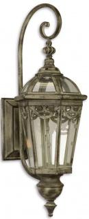 Casa Padrino Jugendstil Wandlaterne / Wandkerzenleuchter Antik Grau 21 x 23, 8 x H. 59, 5 cm - Garten & Terrassen Accessoires