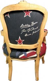 Casa Padrino Barock Salon Stuhl New Zealand / Holzfarbig - Neuseeland Fashion Möbel - Vorschau 4