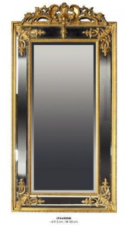Casa Padrino Barock Wandspiegel Gold H 183 cm B 91.5 cm - Edel & Prunkvoll - Goldener Spiegel