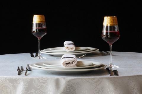 Casa Padrino Luxus Barock Rotweinglas 6er Set Gold Ø 8, 5 x H. 24 cm - Handgefertigte und handgravierte Weingläser - Hotel & Restaurant Accessoires - Luxus Qualität