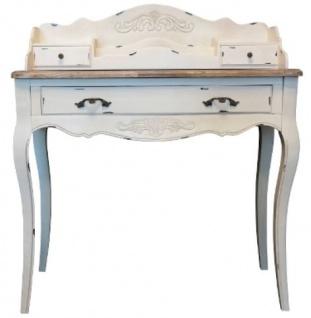 Casa Padrino Landhausstil Sekretär Antik Weiß / Braun 90 x 40 x H. 102 cm - Sekretär im Shabby Chic Look