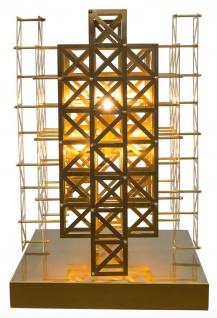 Casa Padrino Designer Tischleuchte Messing 45 x 45 x H. 65 cm - Hotel Möbel