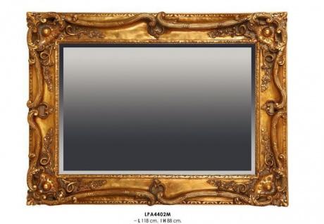 Casa Padrino Barock Wandspiegel Gold H 118 cm B 88 cm - Edel & Prunkvoll - Goldener Spiegel