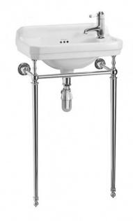 Casa Padrino Jugendstil Stand Gäste WC Waschtisch Weiß / Chrom B 51cm - Art  Deco Waschbecken Barock Antik Stil