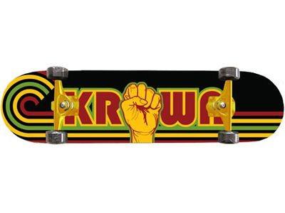 Krown Skateboard Komplettboard Rasta Power 8.0 Complete Board