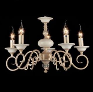 Casa Padrino Barock Decken Kronleuchter Creme Gold 56 x H 36 cm Antik Stil - Möbel Lüster Leuchter Hängeleuchte Hängelampe