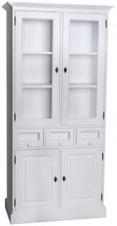 Casa Padrino Landhausstil Küchenschrank mit 4 Türen und 3 Schubladen 98 x 50 x H. 200 cm - Verschiedene Farben - Küchenmöbel - Vorschau 2