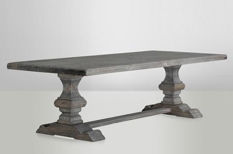 Casa Padrino Landhaus Esstisch Eiche Rustic Grey - Barock Stil Tisch Eiche Massiv