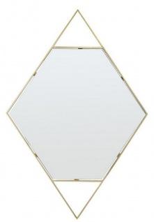 Casa Padrino Designer Wandspiegel Gold 81 x H. 119 cm - Edelstahl Spiegel in Form eines Diamanten - Designermöbel