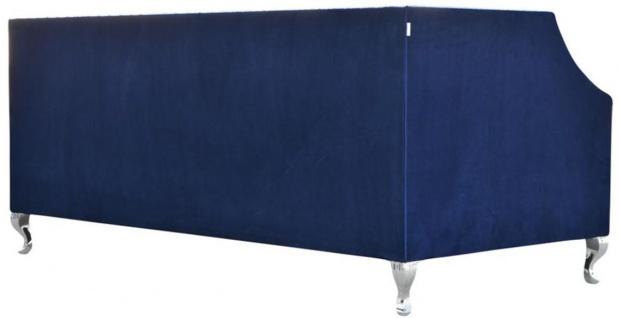 Casa Padrino Luxus Chesterfield Samt Sofa mit Kissen 172 x 84 x H. 76, 5 cm - Verschiedene Farben - Chesterfield Wohnzimmer Möbel - Vorschau 4