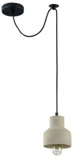 Casa Padrino Hängeleuchte / Pendelleuchte Grau Ø 12, 5 x H. 13, 5 cm - Moderne Leuchte mit Beton Lampenschirm
