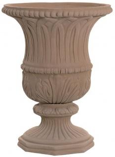 Casa Padrino Barock Blumenvase Terracotta Ø 40 x H. 52 cm - Handgefertigte Keramik Vase - Balkon Terrassen Garten Deko im Barockstil