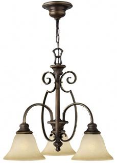 Casa Padrino Barock Kronleuchter Antik Bronze / Vintage Alabaster Ø 57, 1 x H. 53, 3 cm - Wohnzimmer Leuchten im Barockstil