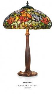 Tiffany Hockerleuchte Höhe 64 cm, Durchmesser 40 cm - Leuchte Lampe