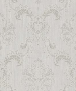 Casa Padrino Barock Textiltapete Grau 10, 05 x 0, 53 m - Hochwertige Wohnzimmer Tapete im Barockstil