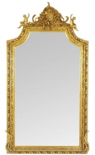 Casa Padrino Barock Wandspiegel Spiegel Gold 100 x H. 180 cm - Antik Stil Spiegel - Edel & Prunkvoll - Möbel im Barockstil