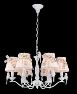 Casa Padrino Barock Kristall Decken Kronleuchter Weiß 61 x H 37 cm Antik Stil - Möbel Lüster Leuchter Hängeleuchte Hängelampe