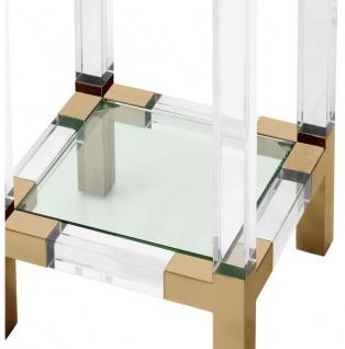 Casa Padrino Luxus Beistelltisch / Säule Messingfarben 35 x 35 x H. 100 cm - Designermöbel - Vorschau 3