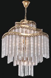 Casa Padrino Luxus Barock LED Kronleuchter Gold Ø 80 x H. 90 cm - Prunkvoller Kronleuchter im Barockstil - Luxus Qualität