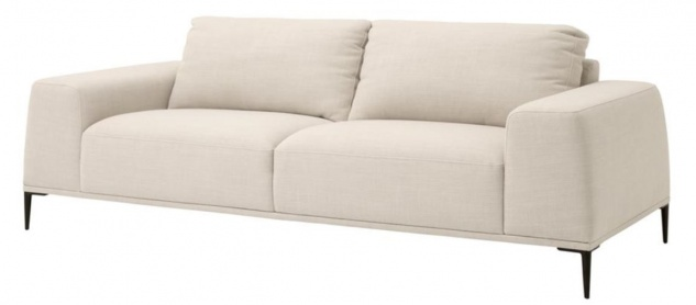 Casa Padrino Luxus Sofa Naturfarbig 223 x 93 x H. 80 cm - Luxus Wonzimmer Möbel