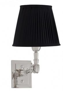 Casa Padrino Luxus 1er Wandleuchte Schwarz / Nickel Finish - Leuchte - Luxury Collection