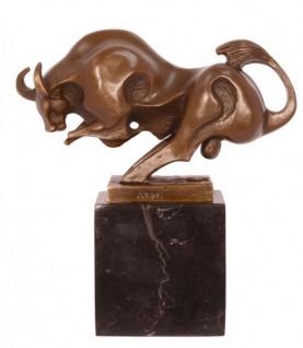 Casa Padrino Luxus Bronze Stierfigur Modernismus 19.0 x 18.2 cm - Moderne Skulptur Art Deco