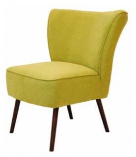 Casa Padrino Luxus Retro Salon Sessel Gelbgrün Braun 63 X 72 X H 77 Cm 60er Jahre Cocktailsessel