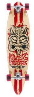 Mindless Tribal Complete Longboard Rogue II Natural / Red Pintail Komplettboard Komplett mit Koston Kugellagern