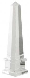 Casa Padrino Luxus Kristallglas Obelisk 6, 5 x 6, 5 x H. 26 cm - Designer Wohnzimmer Hotel Dekoration