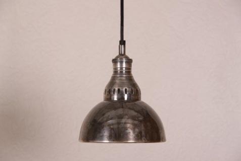 Casa Padrino Hängeleuchte Deckenleuchte Antik Stil Silber Industrial Vintage Design 20cm Durchmesser - Industrie Lampe Hänge Leuchte