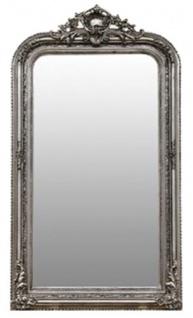 Casa Padrino Barock Spiegel Silber 86 x H. 155 cm - Wohnzimmermöbel im Barockstil