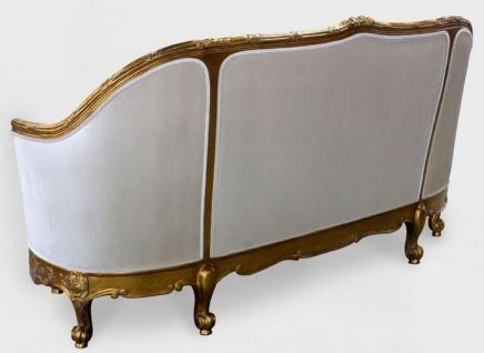 Casa Padrino Luxus Barock Wohnzimmer Sofa Weiß / Gold - Edles Handgefertigtes Antik Stil Sofa - Barock Wohnzimmer Möbel - Vorschau 4