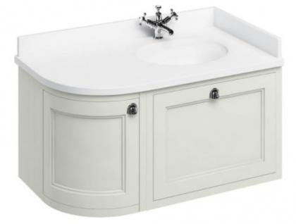 Casa Padrino Hänge-Waschschrank mit Marmorplatte Schublade und Tür - Luxus Waschtisch