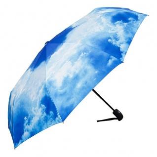 """MySchirm Designer Taschenschirm """" Sommerhimmel"""" - Eleganter Regenschirm - Luxus Design - Auf-und-zu-Automatikschirm"""