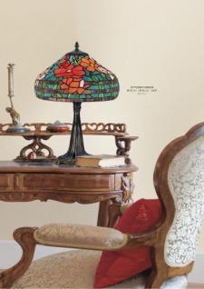 Handgefertigte Tiffany Hockerleuchte Tischleuchte Höhe 46 cm, Durchmesser 30 cm - Leuchte Lampe