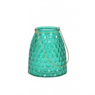 Casa Padrino Glas Teelicht Halter Ø13x15 cm - Dunkelgrün/Gold - Teelichter Kerzenhalter