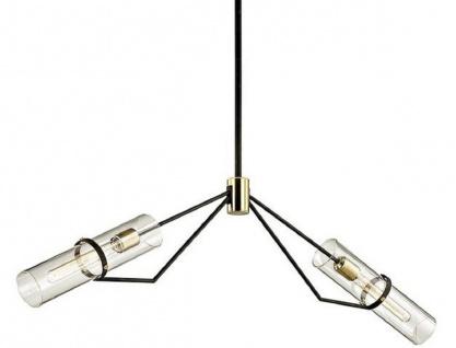 Casa Padrino Luxus Kronleuchter Bronze / Messing 127 x 10, 2 x H. 37, 5 cm - Designer Wohnzimmer Kronleuchter