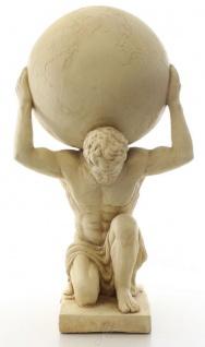 Casa Padrino Deko Skulptur Atlas trägt Weltkugel Beige 34 x 38, 3 x H. 68, 6 cm - Kunstharz Figur - Deko Figur - Vorschau 3