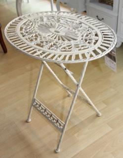 Jugendstil Gartenmobel Tisch Altweiss Oval Garten Tisch Klappbar