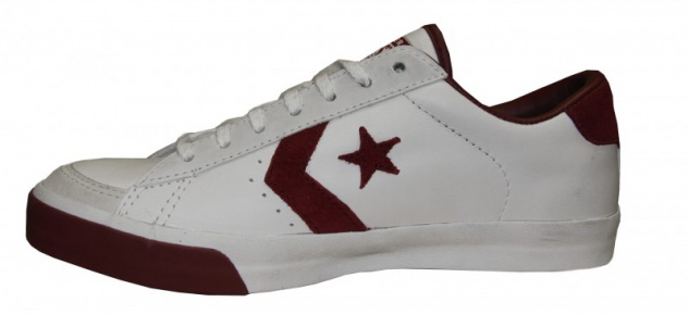 Converse Skateboard Schuhe Pro Lo Ox White / / / Cranberry Sneakers Shoes 0069f7