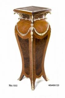 Casa Padrino Barock Säule mit Marmorbesatz 40 x 40 x H. 123 cm - Limited Edition