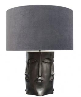 Casa Padrino Luxus Tischlampe in bronze schwarz mit anthrazitfarbenen Lampenschirm 60 x H. 73 cm - Hotel Restaurant Lampen