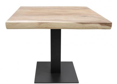 Casa Padrino Luxus Esstisch mit schwarz pulverbeschichteten Tischbein - Luxus Qualität