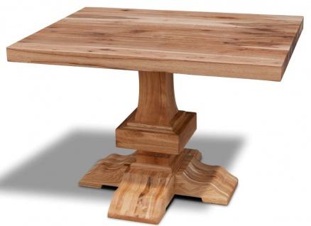 Casa Padrino Massivholz Küchentisch - Verschiedene Größen & Farben - Luxus Eichenholz Esstisch - Rustikale Esszimmer Möbel