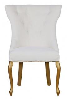 Casa Padrino Luxus Esszimmer Stuhl Barock mit Metall Rückenring - Luxus Qualität - ALLE FARBEN - Neo Classic Vintage Style Hotel Stuhl - Möbel - Vorschau 2