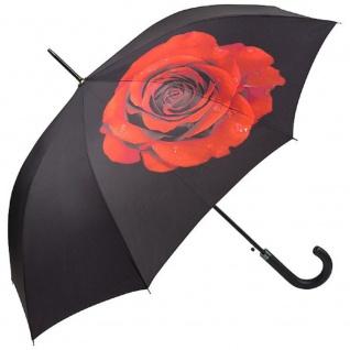 "MySchirm Designer Regenschirm Motivschirm "" Rose"" - Eleganter Stockschirm - Luxus Design - Automatikschirm"