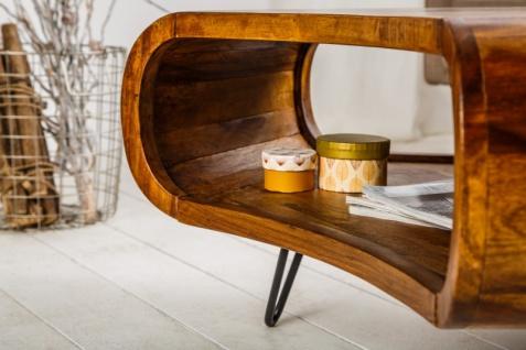 Casa Padrino Designer Massivholz Sheesham Couchtisch Natur Braun 90cm x H.38cm - Salon Wohnzimmer Tisch - Retro Couchtisch - Vorschau 4